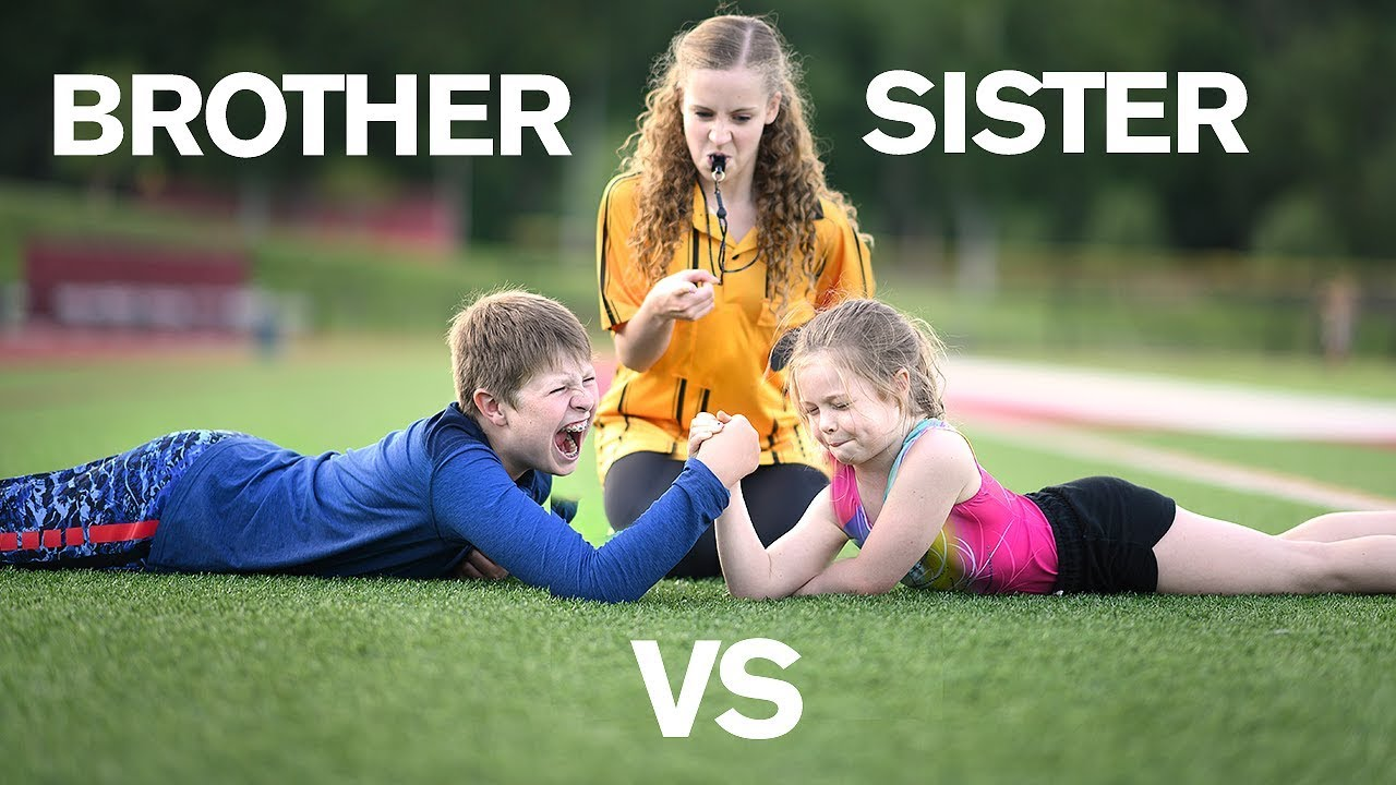 Brother Vs Sister Strength Challenge - Youtube-9902