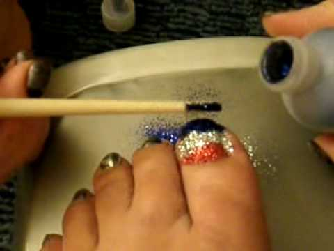 Rock Star Toes using CND Shellac