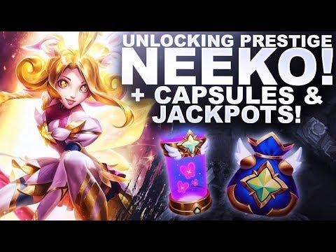 UNLOCKING PRESTIGE NEEKO! + STAR GUARDIAN ORBS & 3 JACKPOTS! | League of Legends