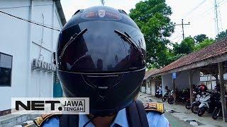 Dua Siswa SMK Satu Purworejo Menciptakan Helm Antibegal - NET JATENG