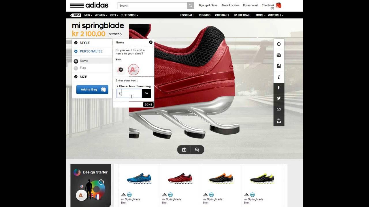 Adidas Skor Med Namn