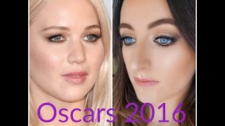 Jennifer Lawrence Oscars 2016 Makeup Tutorial- Morphe 35T Palate