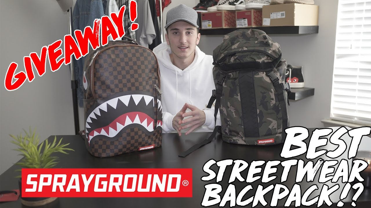 best streetwear backpacks sprayground review giveaway youtube