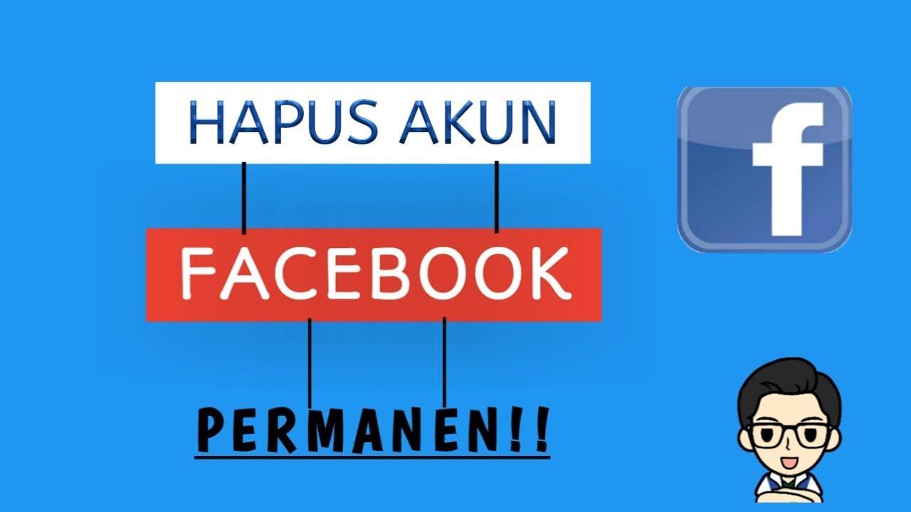 cara menghapus akun facebook di laptop/pc || permanen!!!! - YouTube