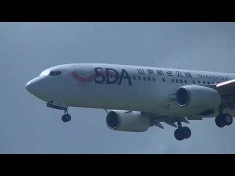 山東航空 Shandong Airlines 737-85P(B-5490) SC-4907 濟南(TNA)→桃園(TPE) landing