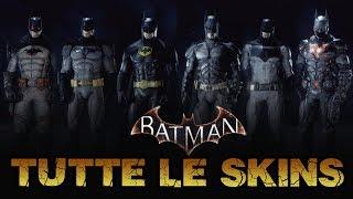 TUTTE LE SKINS DI BATMAN ARKHAM KNIGHT - BATMAN ARKHAM KNIGHT COSTUMES ➤ PS4 Pro