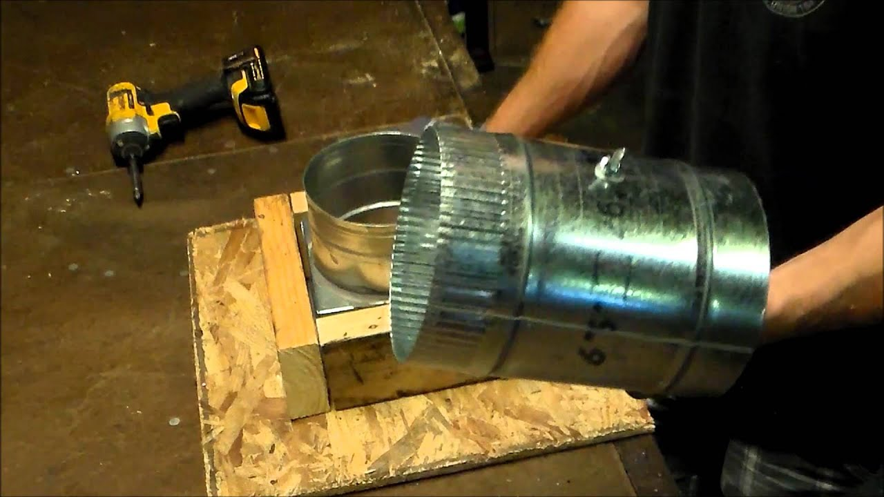 How to cut connect and install flex duct flexible pipe for heating - How To Install A Sheet Metal Duct Damper On A Register Can Or Box For Heating And Air Conditioning Youtube