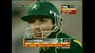 Shahid Afridi Official 8 Sixes vs New Zealand Sharjah 2002