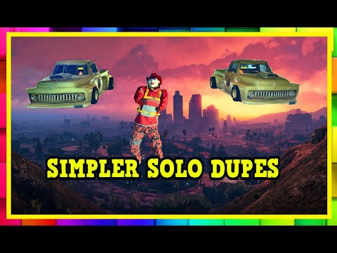 SIMPLER QUICKER SOLO DUPES - GTA ONLINE 1.51 - MAKE MILLIONS !