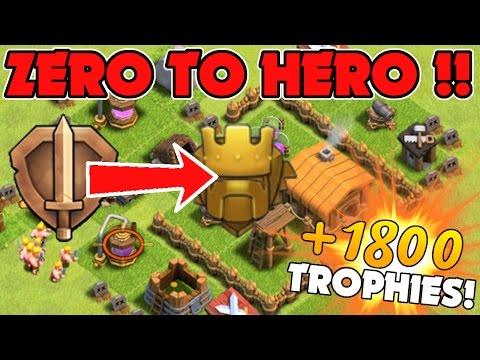 """Zero To Hero Bronze To Titan!"" +1800 Trophies! | Clash Of Clans Part 2!"
