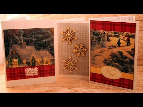 Recycle Or Use Your Stash Christmas Cards Wk64