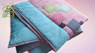 Мастер-класс детское одеяло в стиле пэчворк / Лоскутное шитье /