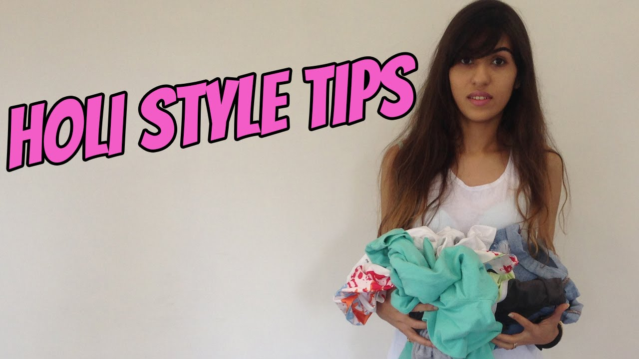 d85988ff5a2f How To Make Your Old Clothes Look Cute For Holi - YouTube