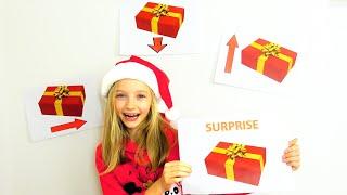 Polina busca regalos para el año nuevo.