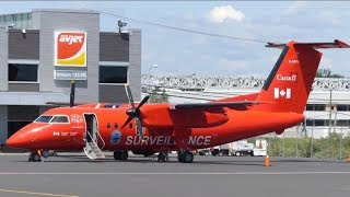 [4K] Transport Canada Surveillance Dash 8-100 at Quebec City Airport (YQB)