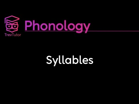 [Phonology] Syllables