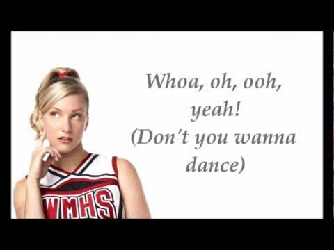 Glee Cast- I Wanna Dance With Somebody (with lyrics)