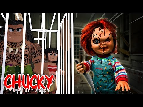 Minecraft - CHUCKY THE BULLY BOY THREATENS MOANA AND MAUI!!