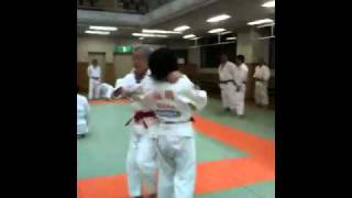 Abe sensei(10th Dan) uchikomi in 2010 at Kangeiko at Kodokan