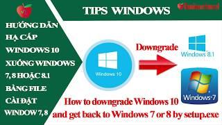 Hạ cấp từ Windows 10 xuống Windows 7, Windows 8 hoặc 8.1 (cách 2: khi quá 10 ngày) | Namloan