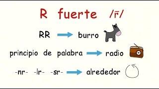 Video Aprender español: Cómo se pronuncia la letra R download MP3, 3GP, MP4, WEBM, AVI, FLV September 2018