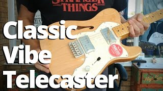 Squier Classic Vibe 70s Telecaster Thinline Review Demo
