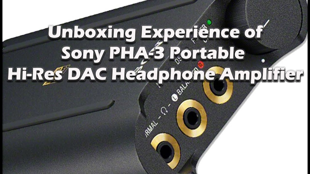 18fb15ba7f9 The $1000 Sony PHA-3 Portable Amplifier - YouTube