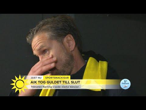 """AIK vann SM-guld – """"Tårarna bara rann och rann – han kunde inte prata"""" - Nyhetsmorgon (TV4)"""