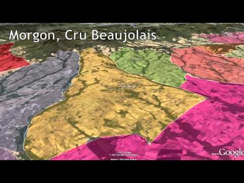 wine article Beaujolais Crus tour with Google Earth