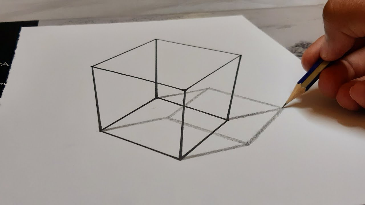 Line illusion draw with me - how to draw easy optical ...