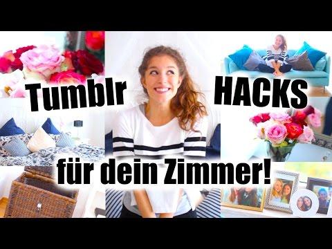 10 TUMBLR HACKS FÜR DEIN ZIMMER! einfach + günstig! | BarbieLovesLipsticks