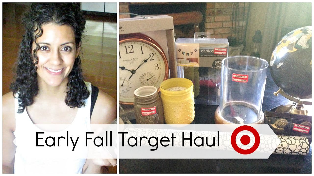 Target haul home decor clearance and dollar spot fall 2015 youtube Target fall home decor