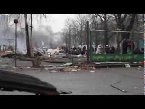 Ukraine: Chaos in Kiew - Sniper targets protesters in Kiev