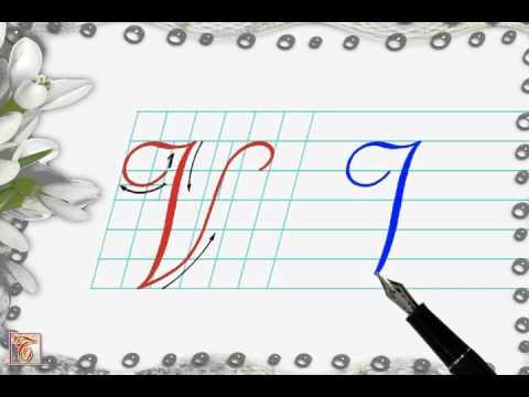 Luyện viết chữ đẹp - Chữ hoa V2 viết nghiêng - How to write capital letter V2