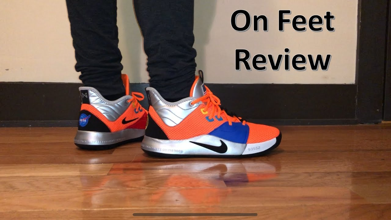 Nike PG 3 NASA On Feet Review and