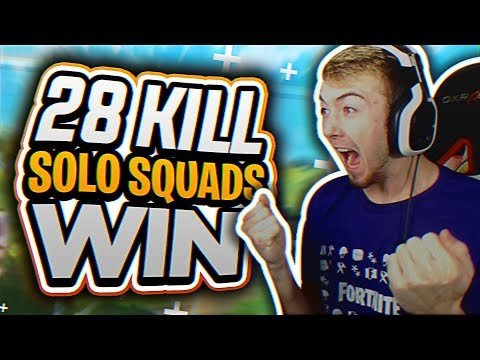 28 Kill Solo Squads! (Fortnite Battle Royale Full Gameplay)