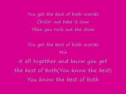 Hannah Montana Best Of Both Worlds Lyrics