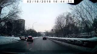Смотреть видео Авария на Малой Филевской. Оба два. 18.02.2018. онлайн