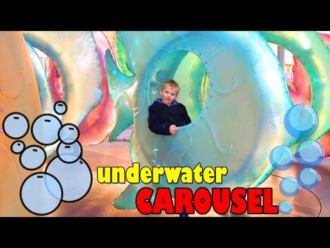 Amazing Under Water Carousel SeaGlass at Battery Park New York