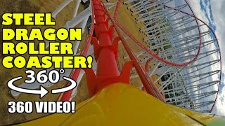 Steel Dragon VR 360 Worlds Longest Roller Coaster POV Onride Nagashina Spaland Japan #rollercoaster