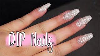 Dip powder nails at home! ft. Azure Beauty nail kit