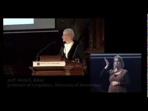 anne baker farewell lecture University of Amsterdam