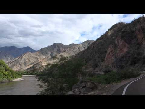 Driving along Maranon River Peru