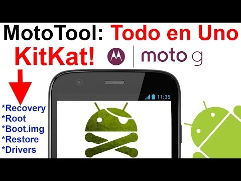 Motorola Moto G: Todo en Uno (MotoTool)! Root fácil en dos clicks! Válido para KitKat. Tutorial [HD]