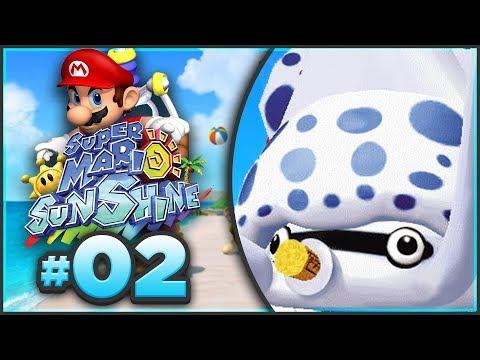 Super Mario Sunshine 100% Walkthrough | ALL Ricco Harbor Shine Sprites! [Episode 2 🔴LIVE]