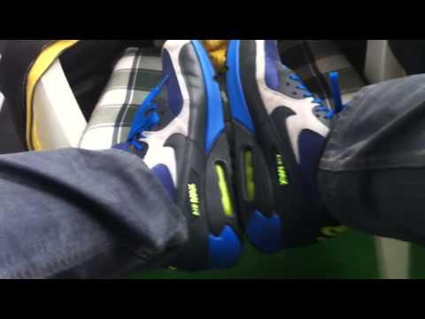 Nike Air Max 90 Essential Strata Grey Cyber Squadron Blue