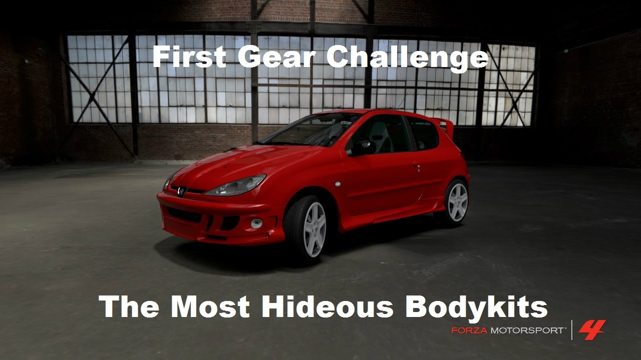 First Gear Challenge The Most Hideous Bodykits (Forza 4)