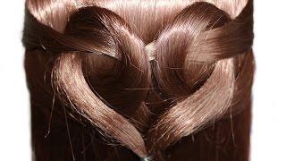 CORAZÓN sin pelo Peinado para cabello medio y largo el 14 de febrero en el día de San Valentín