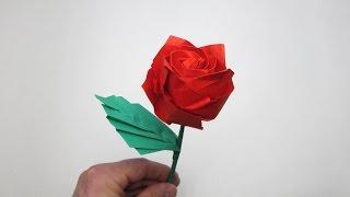 видео как сделать из бумаги розу