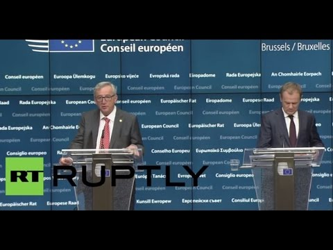 LIVE: EU leaders meet in Brussels: Press conference by Tusk and Juncker (time TBC)